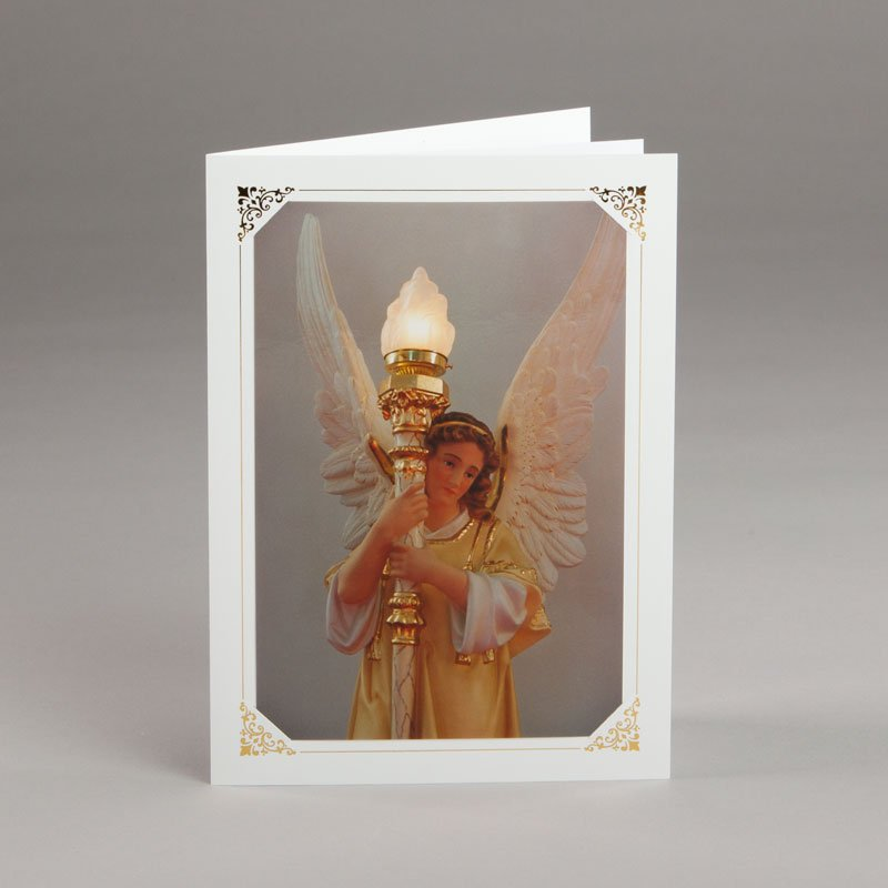 card without verse-angel by the main altar