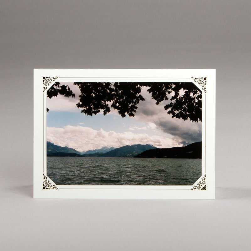 card without verse-lake at annecy