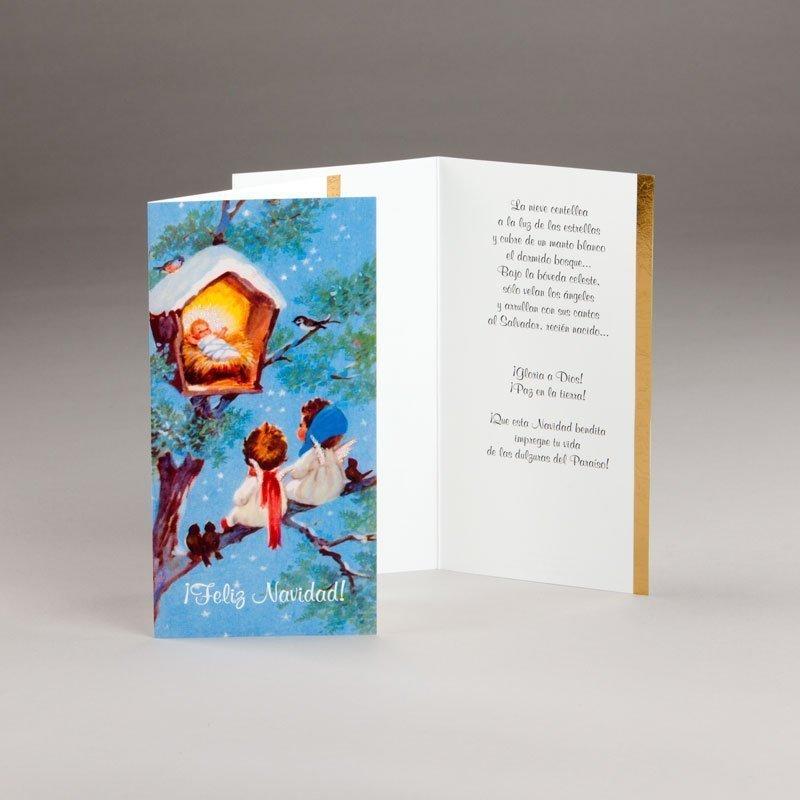 tarjeta de navidad-alegría cristalina