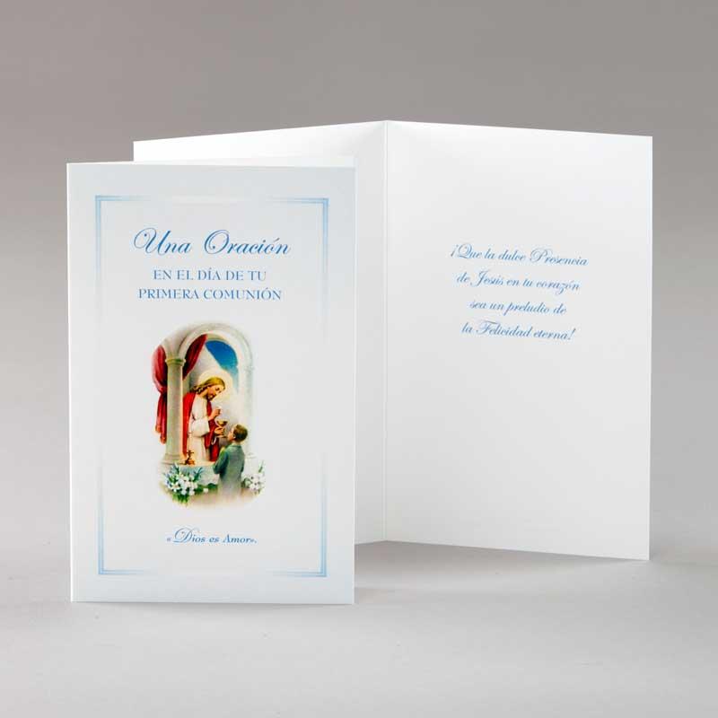tarjeta comunión-chico-dios es amor