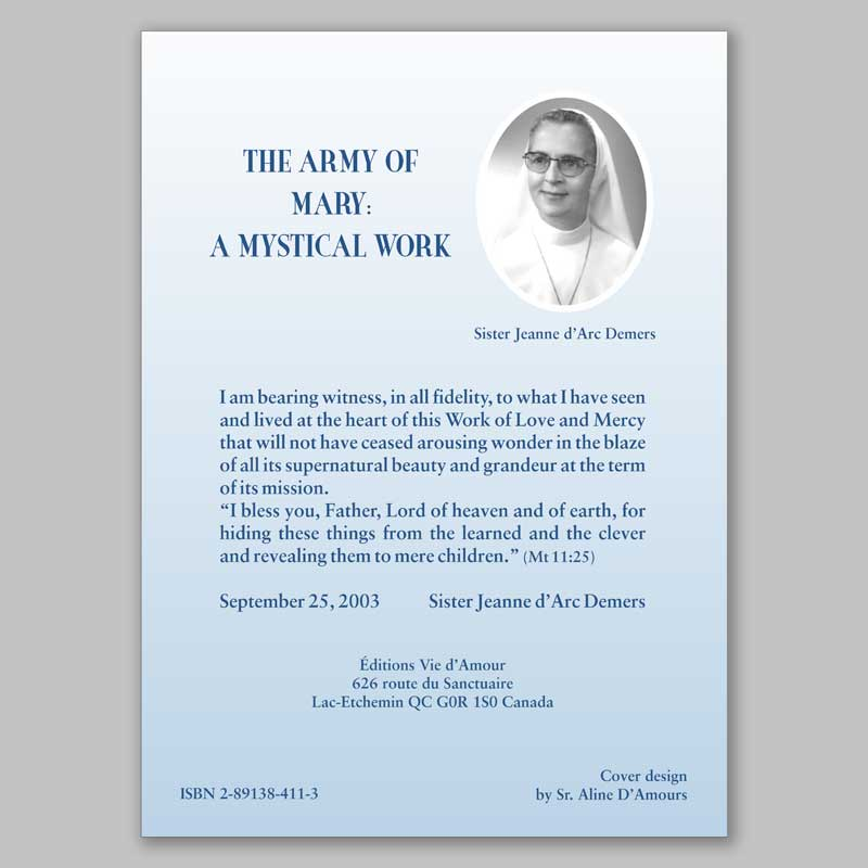 the army of mary: a mystical work 1