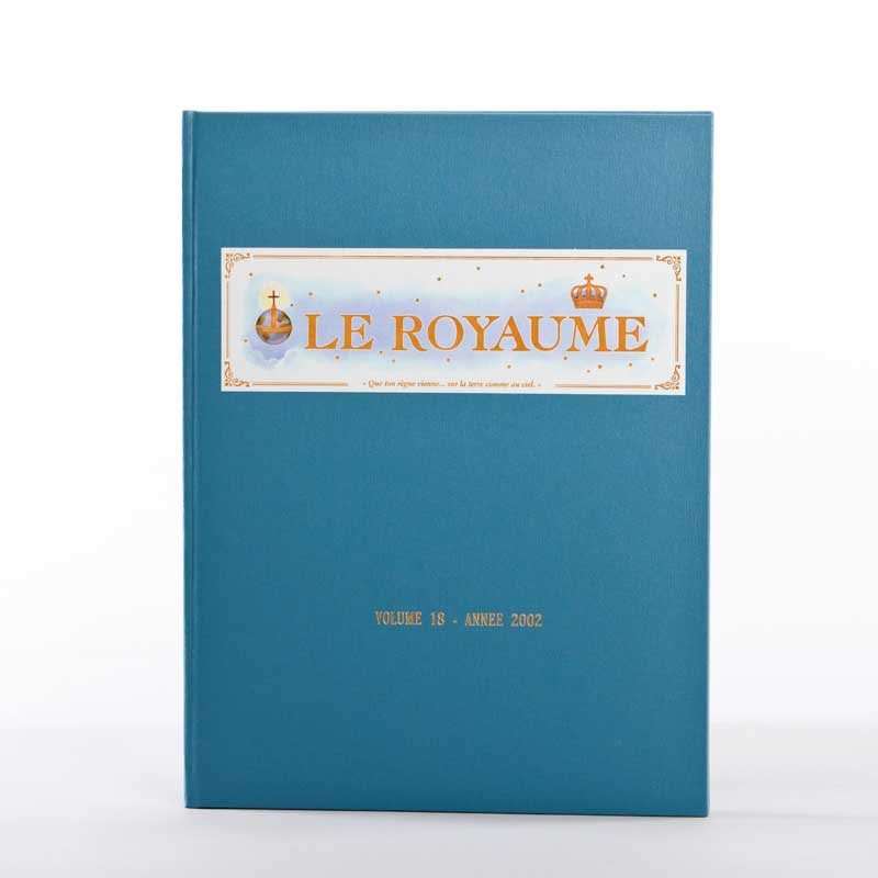 journal le royaume-reliure 18