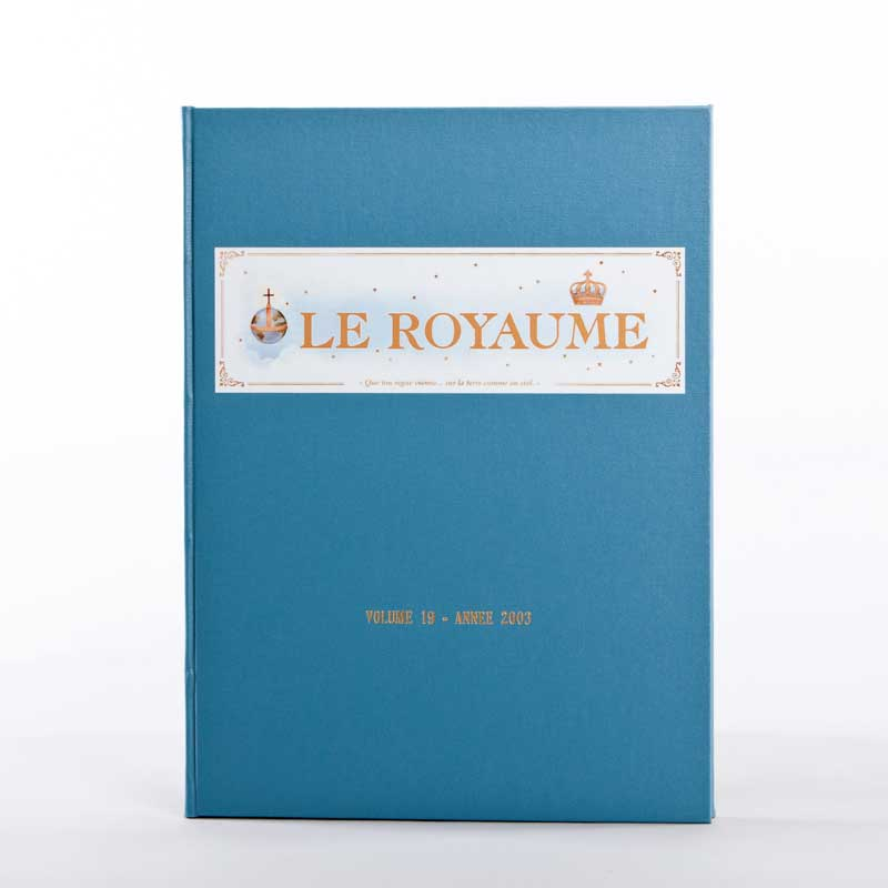 journal le royaume-reliure 19