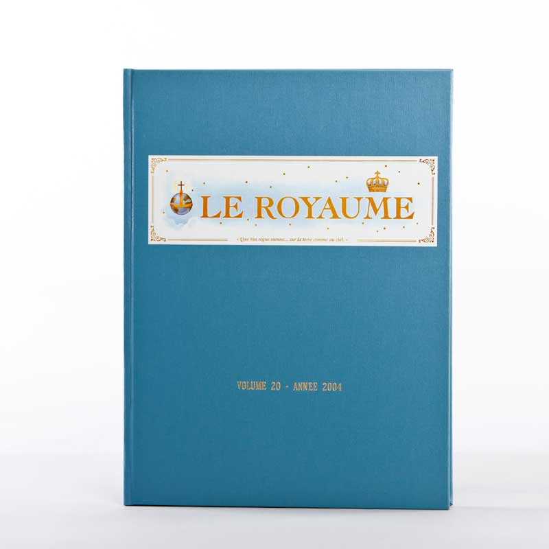 journal le royaume-reliure 20