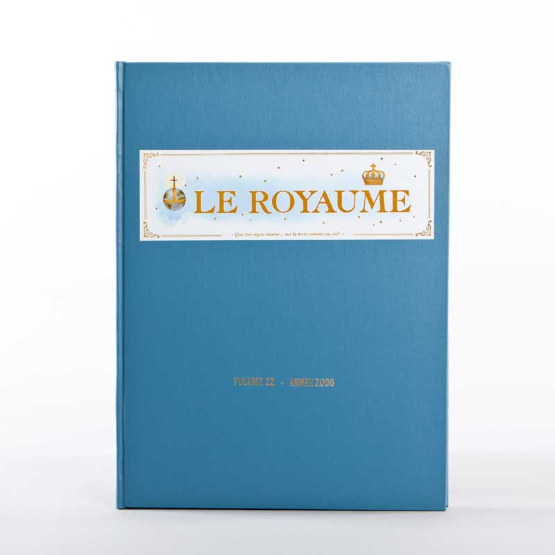 journal le royaume-reliure 22