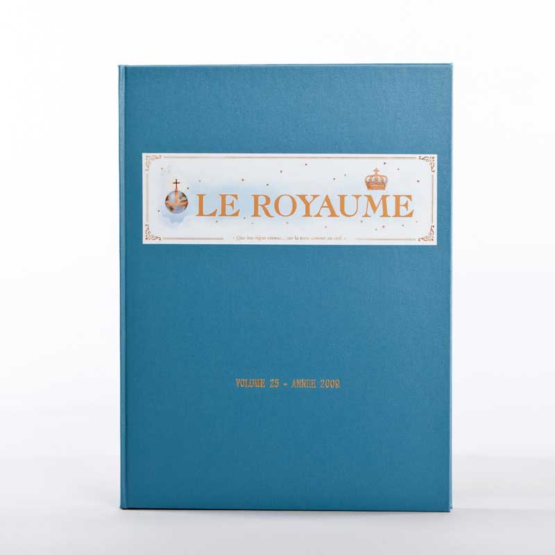 journal le royaume-reliure 25