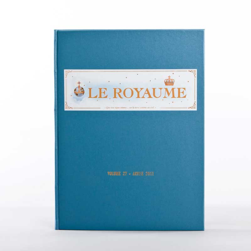 journal le royaume-reliure 27