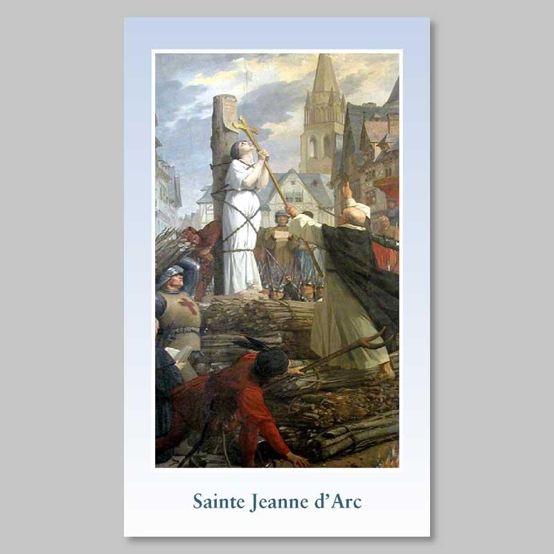 image - sainte jeanne d'arc au bûcher