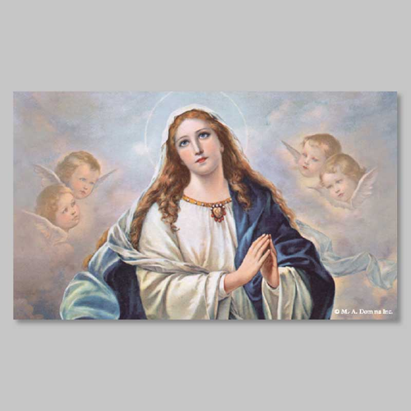 holy picture - immaculate and angels