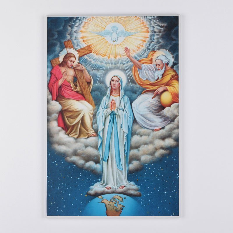 laminated plaque - mary in the trinity