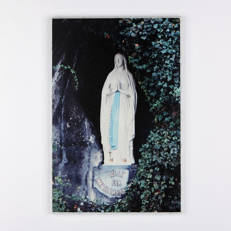 laminated plaque - our lady of lourdes