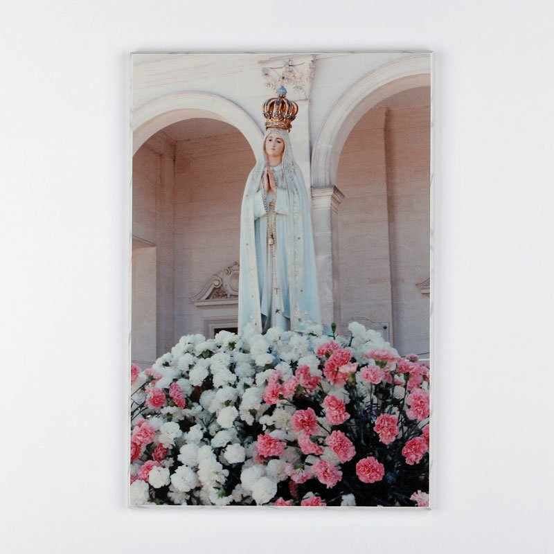 laminated plaque - Our Lady of Fatima