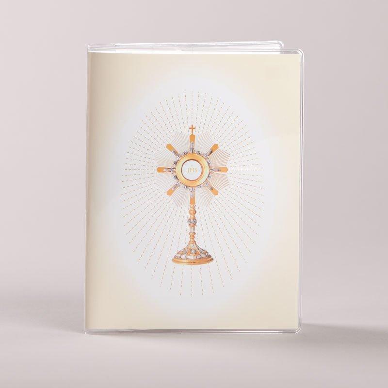 couvre prions en église - ostensoir - avers