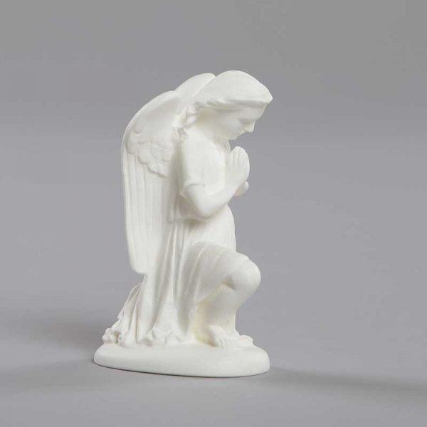 ange adorateur mains jointes - vue de côté