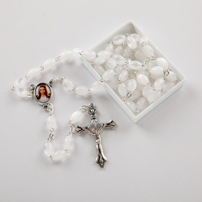 White acrylic rosary