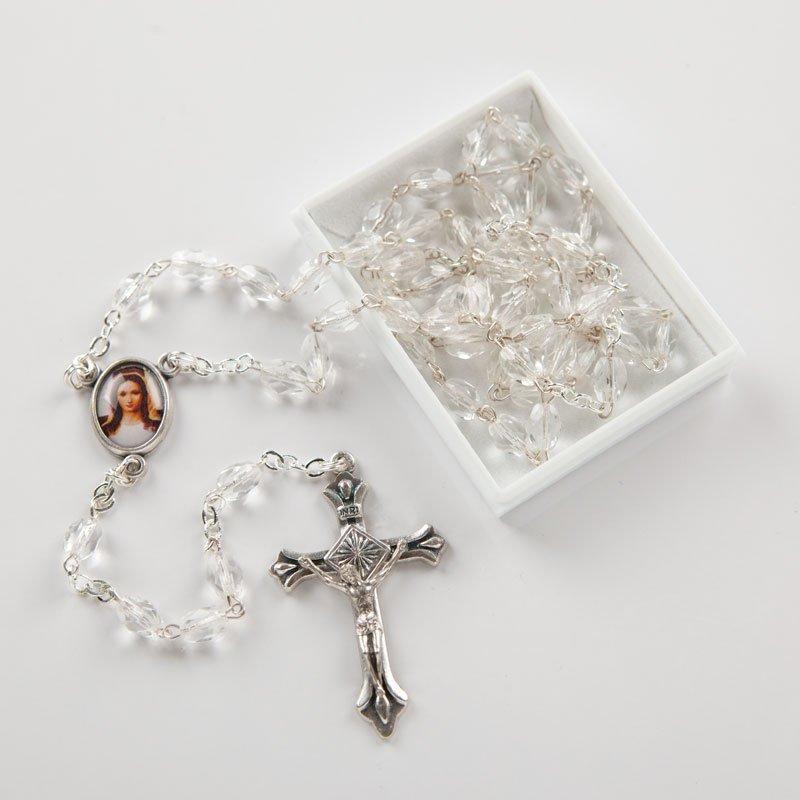chapelet en verre, perles oblongues