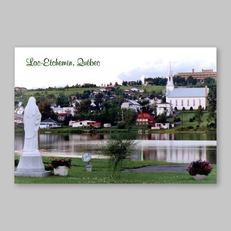 postcard - church and sanatorium