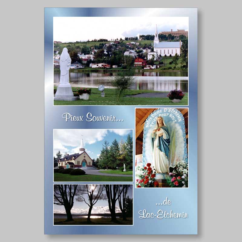 postcard - souvenirs of lac-etchemin