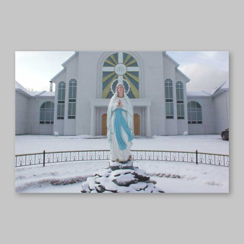 postcard - the immaculate after a snowfall