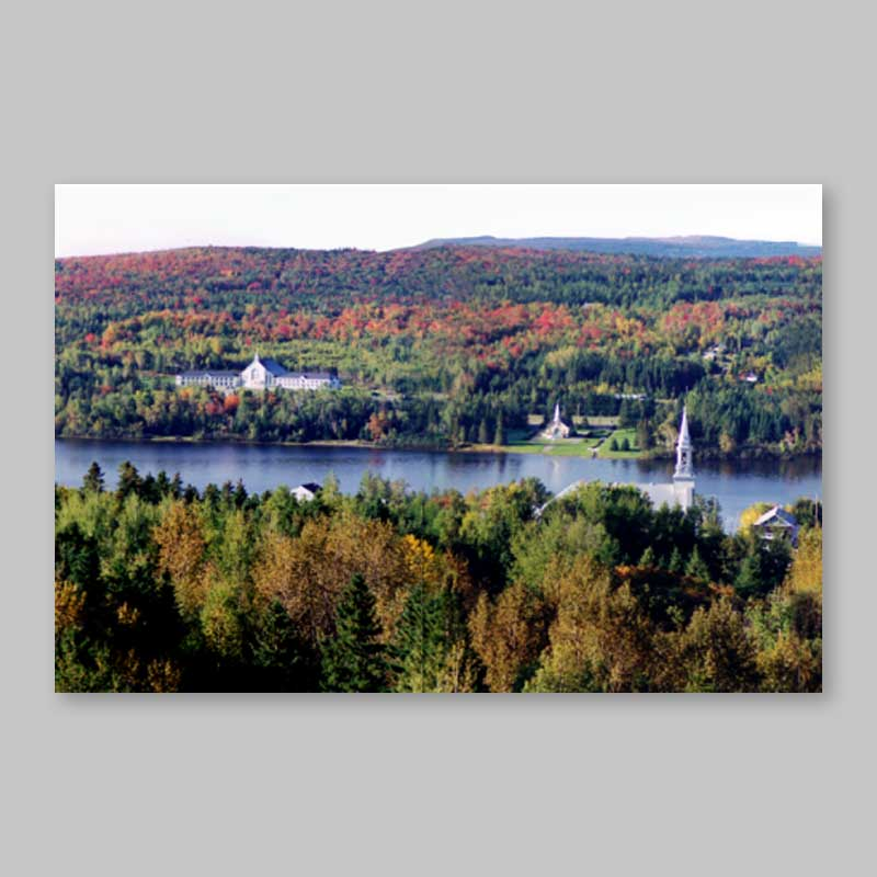 postcard - fall scenery at lac-etchemin