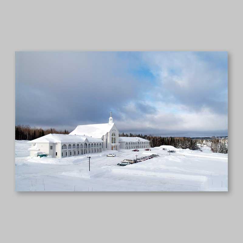 carte postale - paysage d'hiver