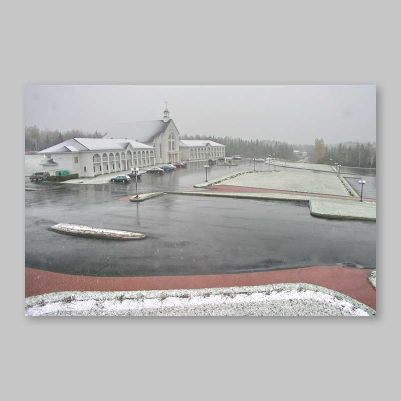 postcard - first snowfall at spiri-maria