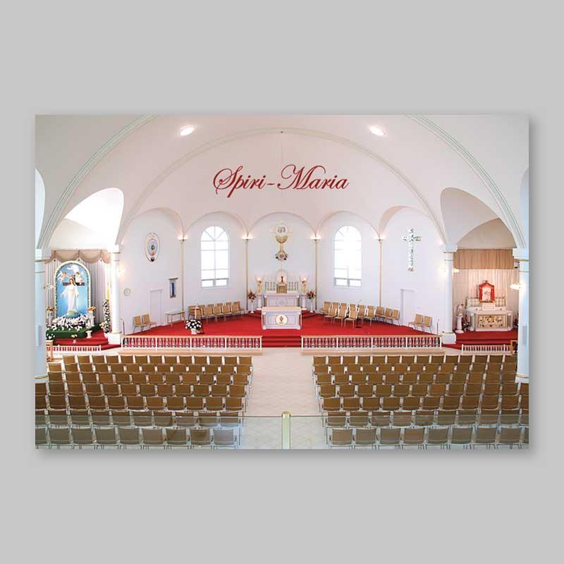 postcard - overall view of the chapel spiri-maria