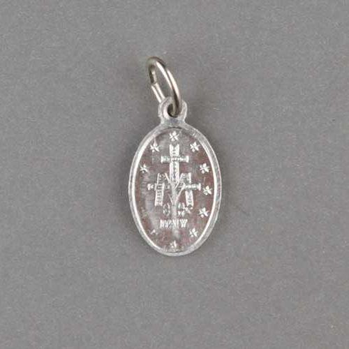 médaille miraculeuse - argentée - 15mm - revers