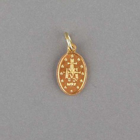 médaille miraculeuse - dorée- 15mm - revers