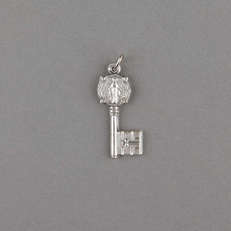 miraculous medal - key - silver