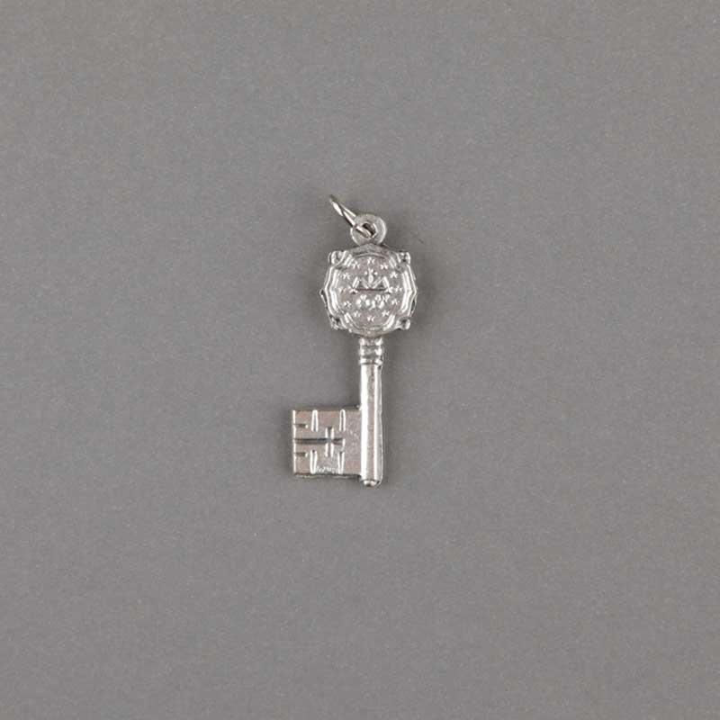 médaille miraculeuse - clef - argenté - revers