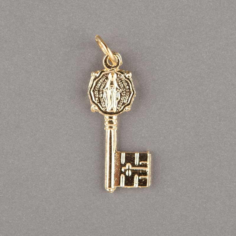 médaille miraculeuse - clef - doré