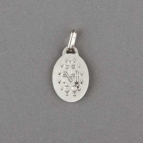 médaille miraculeuse - vieil argent 925 - revers