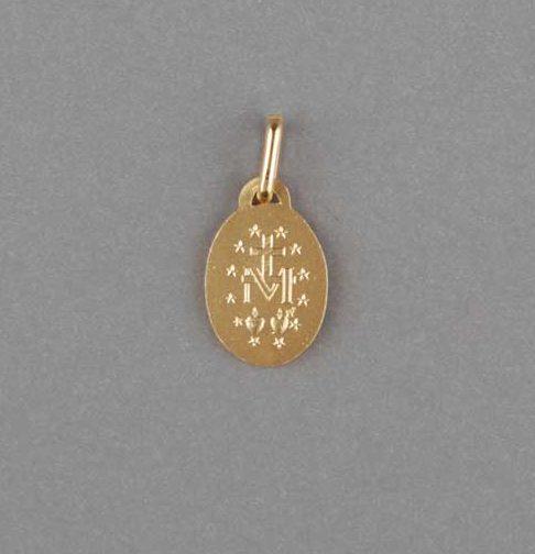 médaille miraculeuse - plaqué doré - revers