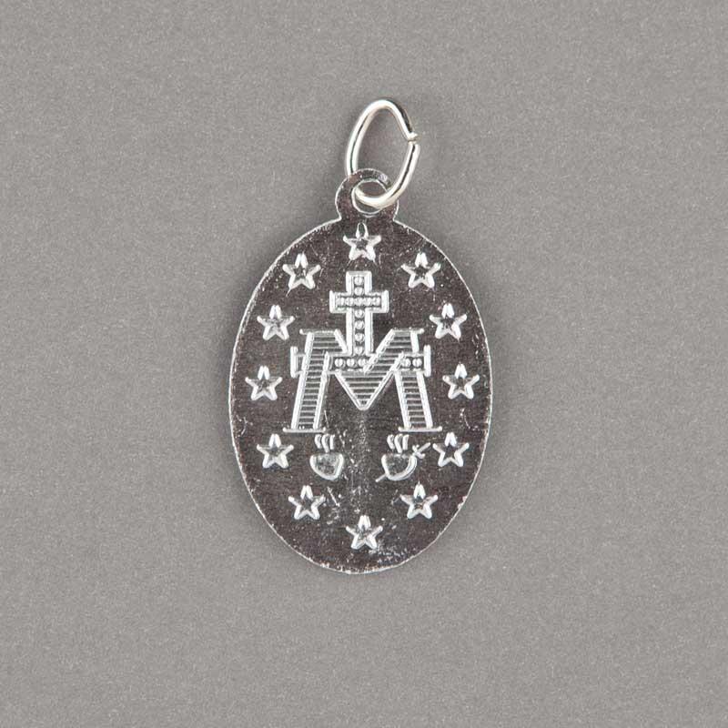 médaille miraculeuse - argenté - 23mm - revers