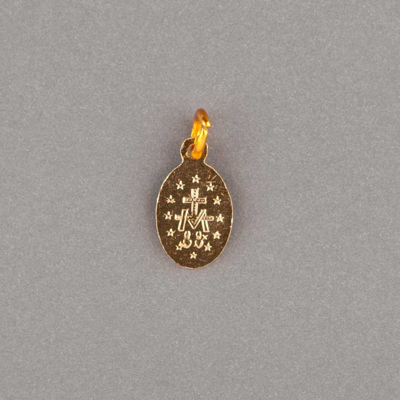 médaille miraculeuse - dorée - 10mm - revers