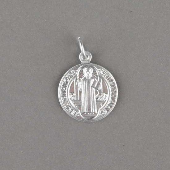 médaille saint benoît - aluminium - 16mm