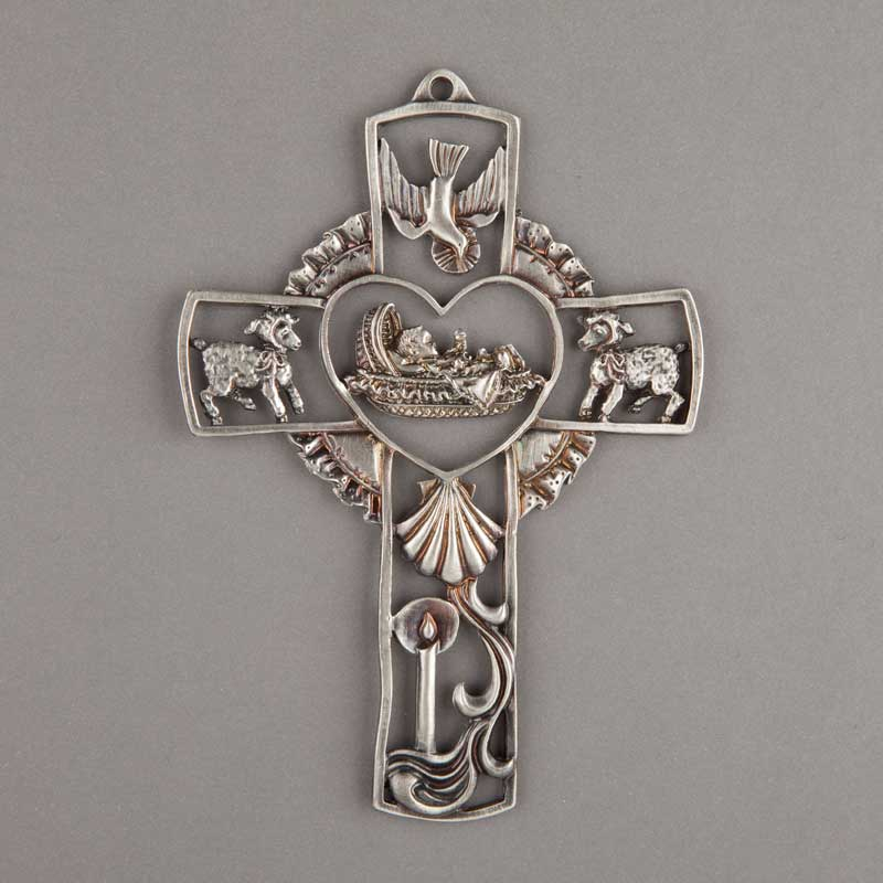 croix en étain pour baptême