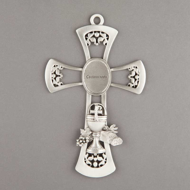first communon pewter cross