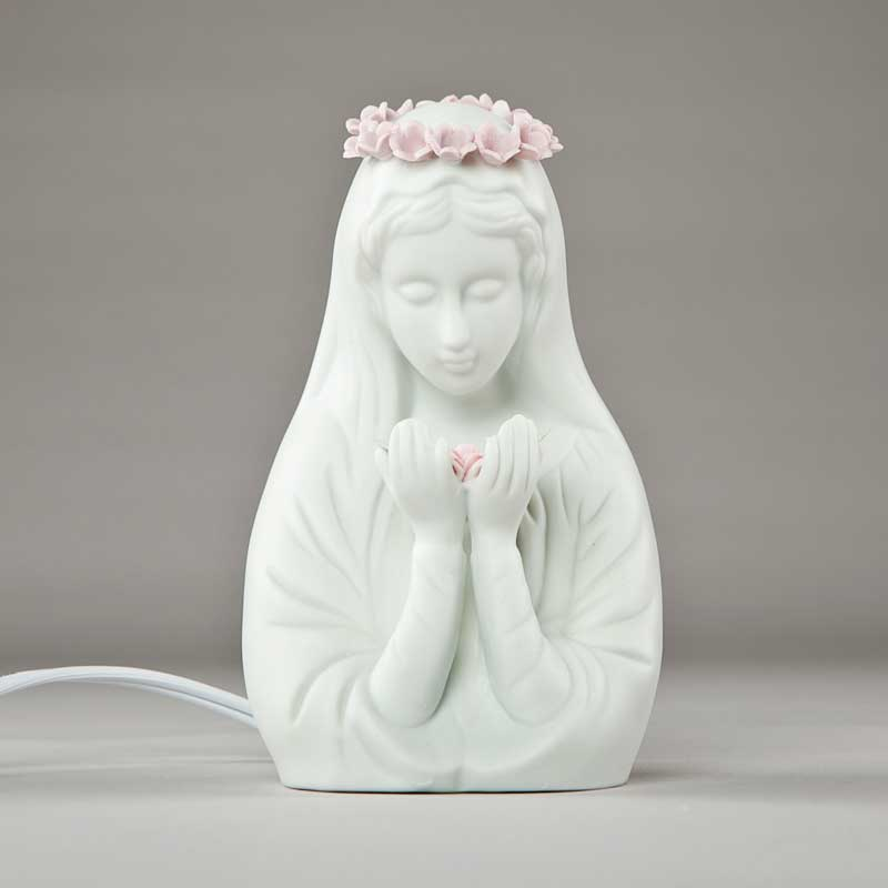 electric night light - porcelain virgin - 5 inches