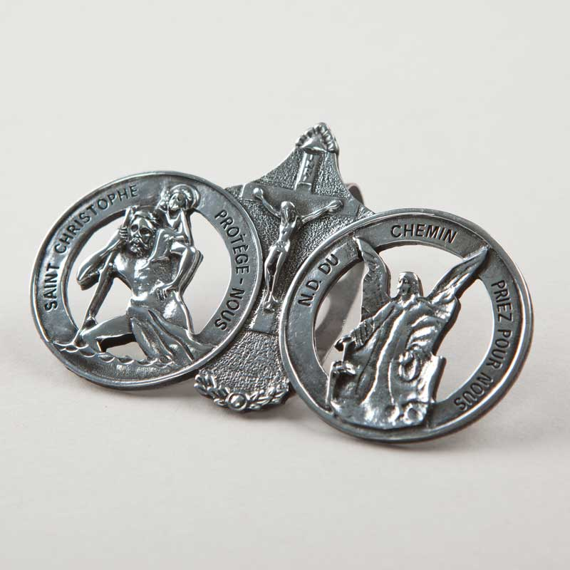 saint christopher - guardian angel sun visor clip