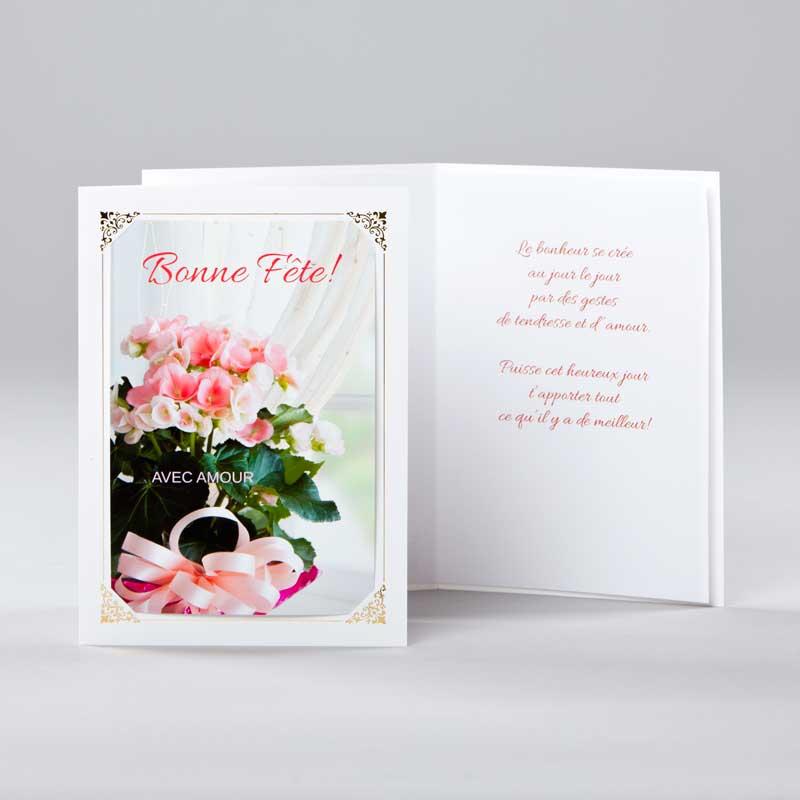carte anniversaire - bonne fête avec amour