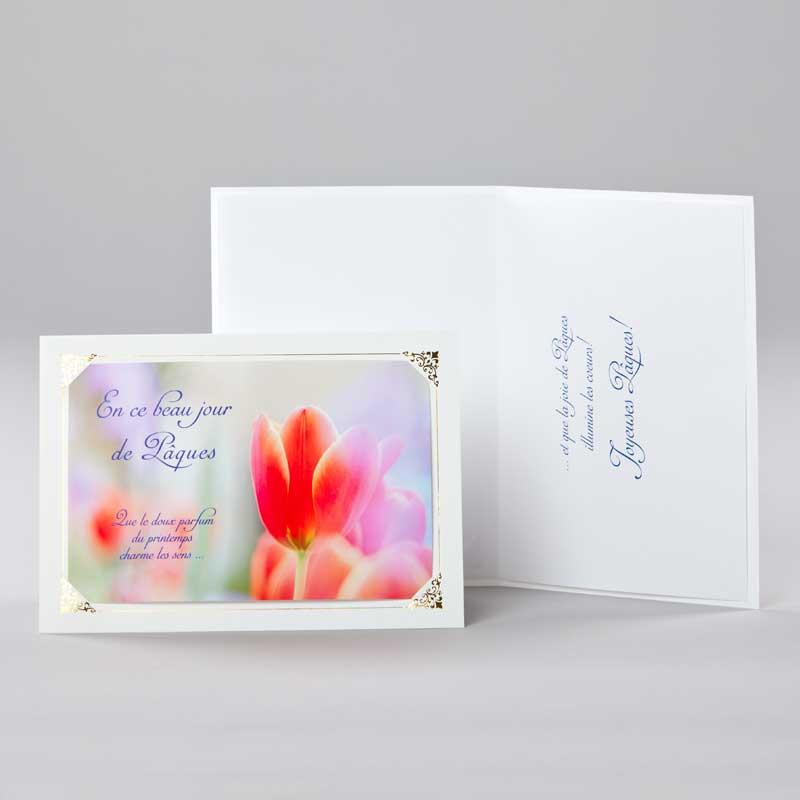 carte pâques - doux parfum de printemps