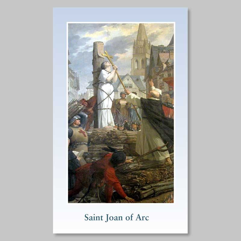 holy picture - joan of arc at the stake