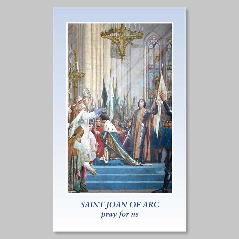 holy picture - saint joan of arc - coronation