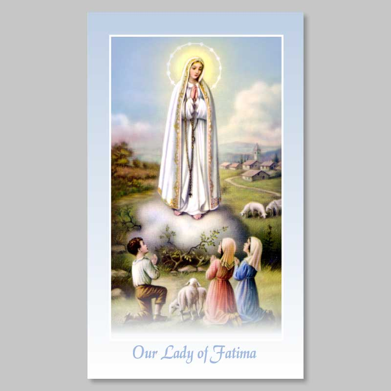 apparition at fatima holy picture