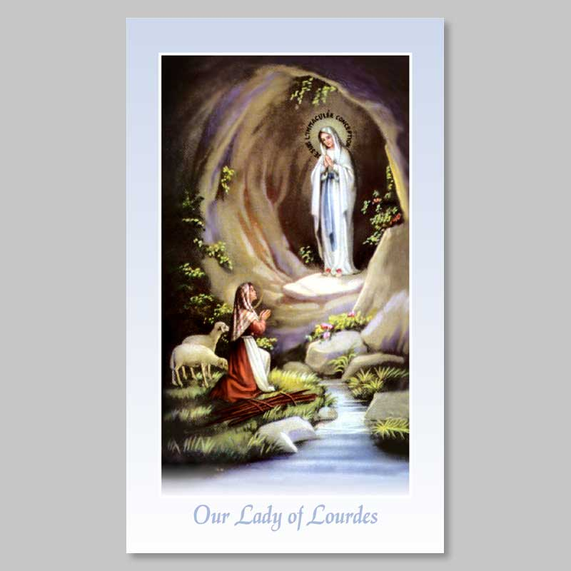 lourdes apparition - holy picture