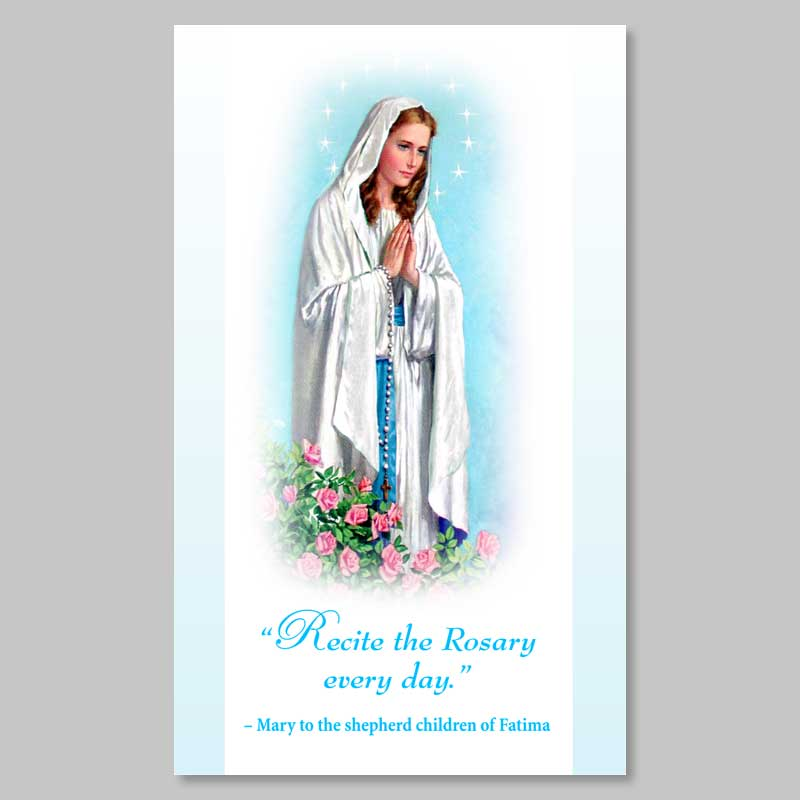 holy picture - virgin of rosary