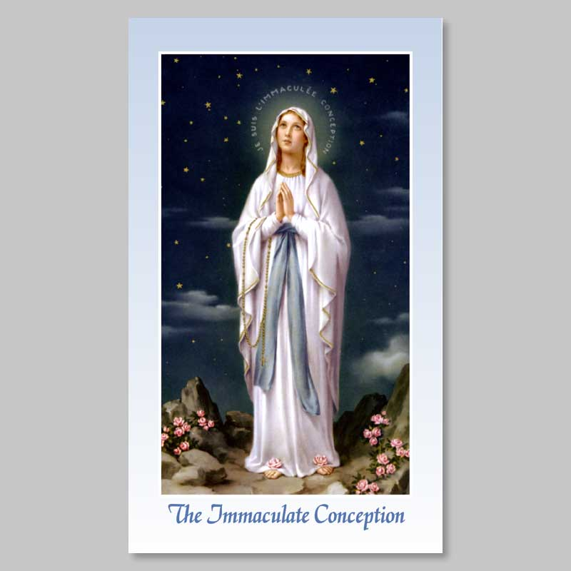 holy picture - the immaculate -lourdes