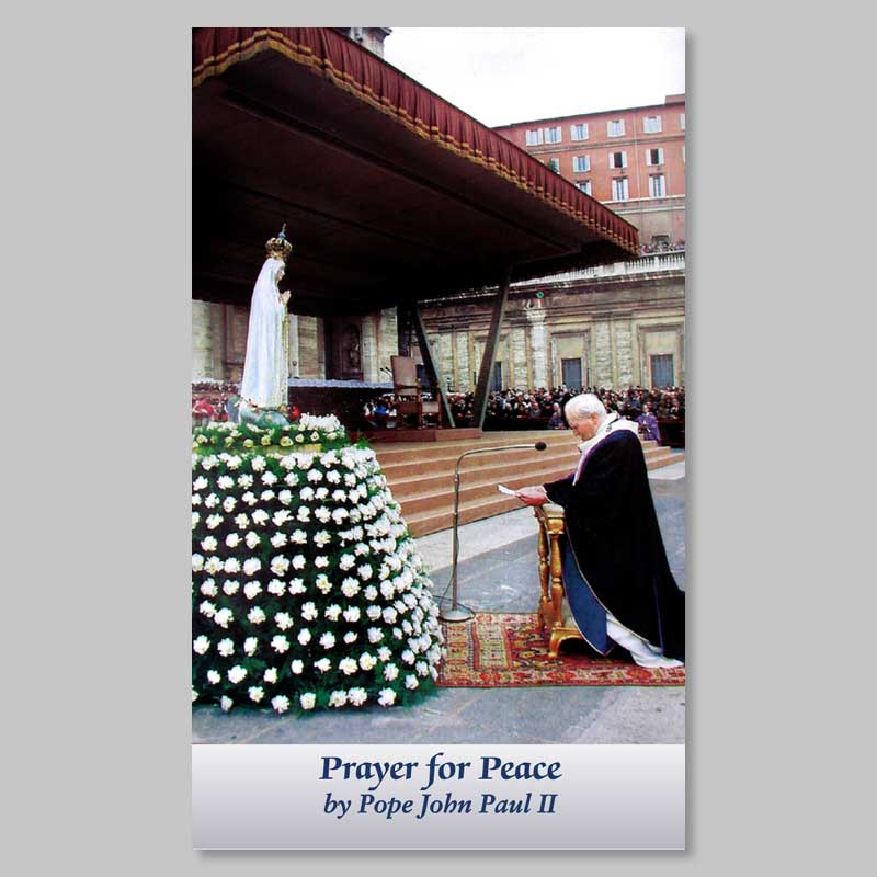 holy picture - prayer for peace (John Paul II)